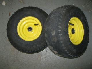 John Deere Lt Series LT133 LT150 LT155 LT160 Pair Front Tires Rims Wheels