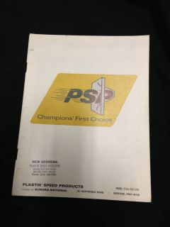 1970 PSP Plastik Speed Products Catalog Duralon Hood Scoop RAM Air Fiberglass