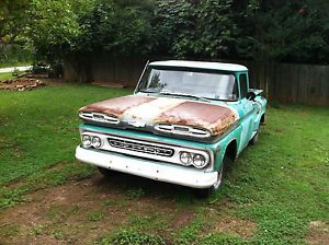 1960 1961 Chevrolet Chevy C10 Apache Long Bed Pick Up Truck New 235 and 4 Speed