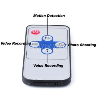 Cloth Hook Mini Hidden Spy Video Camera DVR Motion Detection 720x480 IR Remote