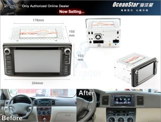 Toyota in Dash Car Radio DVD GPS for Camry Corolla EX RAV4 VIOS Hilux Navigation