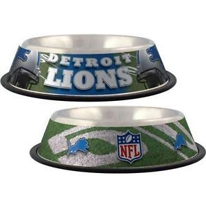 Detroit Lions NFL Dog Bowl Stainless Steel with A No Tip Shape Holds 32oz