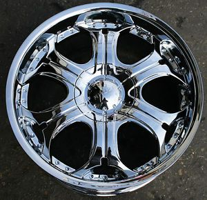 "Akuza Spur 504 22"" Chrome Rims Wheels Ford Expedition F150 6H"