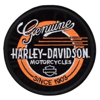 Harley Davidson Genuine Record Patch