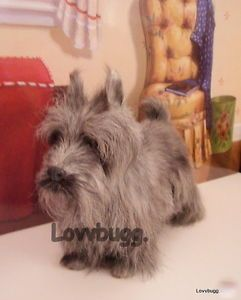 Gray Scottish Terrier Dog Toto for 18 inch Girl Doll WIDEST American Selection