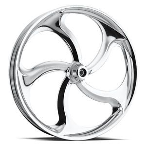 "Custom 3 Dimensional Wheel 30"" Front Chrome 3D Rim for Harley"