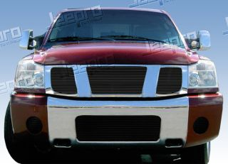 04 07 Nissan Armada Titan Upper 3pc Replacement Black Billet Grille Insert