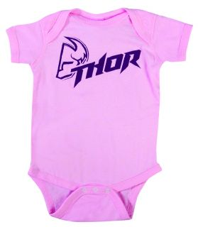 Thor Infant Fusion Mini Pajamas Pink Dirt Bike Motocross Casual