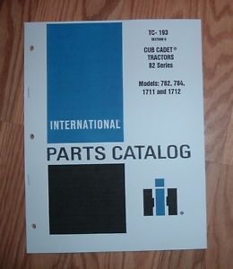 Cub Cadet 782 Tractor Twin Cylinder Air Cooled Engine Illustrated Parts List 2