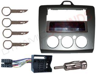 Ford Focus 2006 Car Stereo Fitting Kit Fascia ISO Lead Removal Keys Aerial