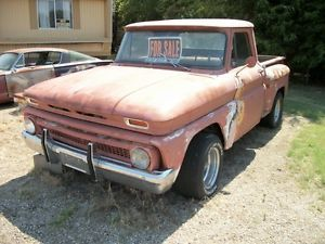 1966 Chevy Pickup Truck 1 2 Ton Chevrolet Short Narrow Step Side Bed