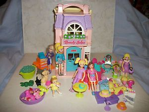 Fisher Price Sweet Street Dollhouse Pet Shop Beauty Shop Polly Pocket Items