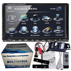 "HD 2Din 7"" Car Stereo DVD Player Radio Bluetooth Audio Video Night Vision Camera"