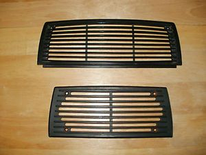Original Mercedes Benz W108 W109 Front and Back Black Dashboard Speaker Covers
