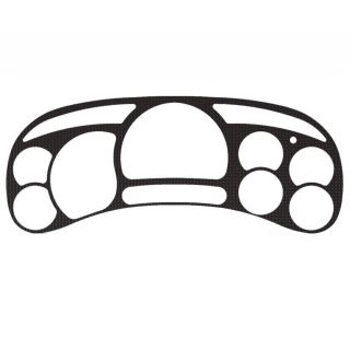 Chevy Silverado 03 06 Carbon Fiber Gauge Cluster Speedo Dash Bezel Cover Trim