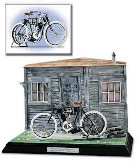 Franklin Mint 1903 Harley Davidson Motorcycle Diorama
