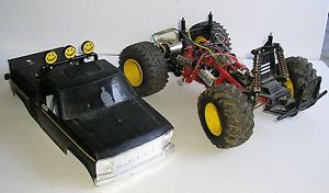 Vintage Tamiya Ford F 150 Blackfoot Daylighter RC Radio Control Truck for Parts