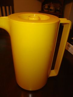 Vintage Ingrid Chicago Retro Bright Yellow Melamine Pitcher