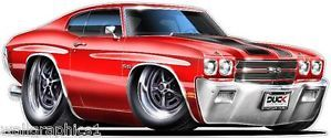 70 Chevy Chevelle SS 454 Turbo Fire LS6 Wall Graphic Truck Bed Decal Vinyl Cling