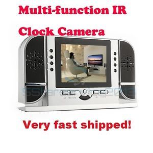 Spy Digital Table Clock DVR Hidden Camera Night Vision Motion Detection Remote