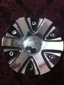 1 Akuza Wheels Chrome Center Cap Part EMR0712 Car Cap Stock 299