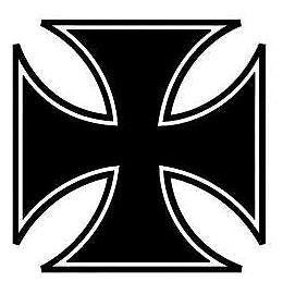 Maltese Cross Sticker