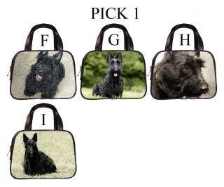 Scottish Terrier Dog Puppy Puppies F I Leather Handbag Purse Pick 1