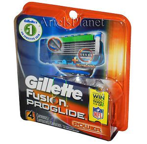 Gillette Fusion Proglide Power Razor Blades 4 Cartridges Refill 1 Pack