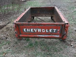 1956 Chevy Step Side Truck Bed Spare Wheel Mount Fender Tail Gate Extremely RAR