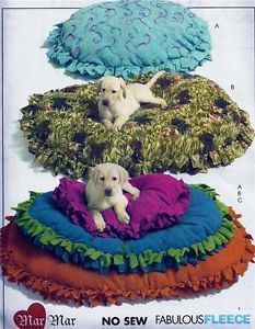 No Sew Fleece Pet Dog Cat Bed McCalls Pattern 5410 3 Sizes