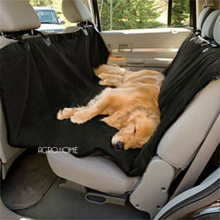 Rear Back Car Seat Cover Protector Pet Dog Cat Blanket Hammock Black D179
