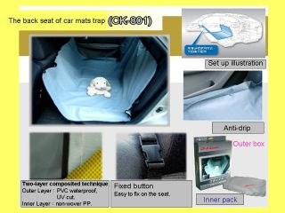 Animal SUV Car Auto Pet Cat Dog Waterproof Safely Rear Seat Cover Protector