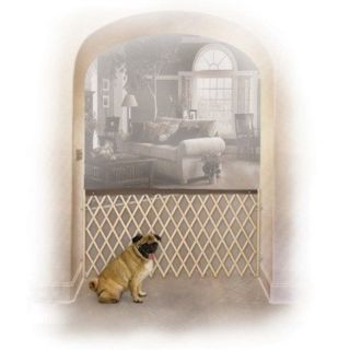 "Midwest Expandable Accordion Wood Dog Pet Gate Adjustable Width 24"" 60"""