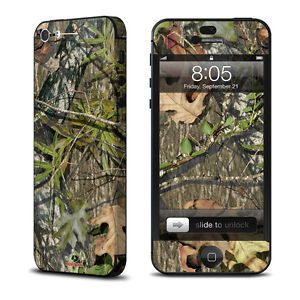 Apple iPhone 5 Skin Cover Case Decal Hunters Camo Forest