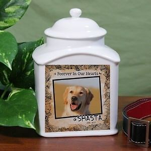 Personalized Dog Memorial Urn Dog Photo Urn Pet Memorial Ceramic Cremation Urn