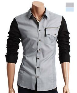 New Arrival Elegant Designer Men's Casual Slim Fit Dress Shirts Collection AJ10