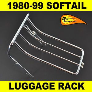 1980 1999 Harley Davidson Softail Chrome Luggage Rack