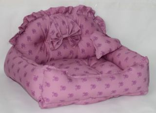 Purple Pet Dog Cat Bed Cotton Handmade Confortable US Stock
