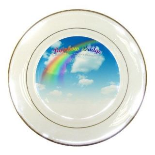 Rainbow Bridge Memorial Pet Dog Puppies Porcelain Plate