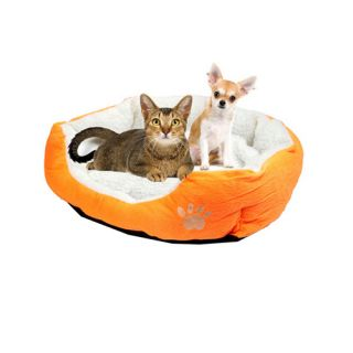 6 Colors 2 Sizes Cat Dog Pet Soft Warm Fleece Bed House Plush Cozy Nest Mat Pad