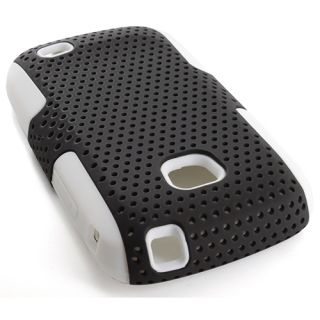 White BK Apex Hybrid Gel Hard Case Cover Samsung Galaxy Proclaim S720C Accessory