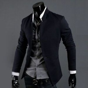 New Men's Casual Slim Sexy Blazer Fit One Button Suit Top Dress Jacket X01 M XXL