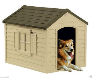 Suncast DH250 Durable Resin All Weather Large Outdoor Pet Dog House