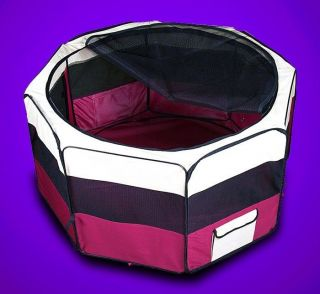 "New 45"" Large Dog Pet Cat Playpen Kennel Pen Crate Cage House Exercise Pen Red"