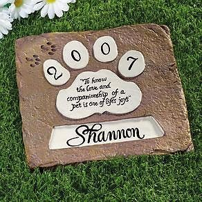 Personalized Pet Dog Memorial Monument Cemetery Grave Stepping Head Stone