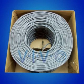 New 500 ft Bulk Cat5e Ethernet Cable Wire UTP Pull Box 500ft Cat 5e Grey
