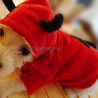 Pet Dog Cat Cute Devil Clothes Puppy Hoodie Fancy Dress Costumes Apparel Coat