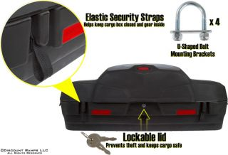 New Deluxe ATV Rear Cargo Rack Storage Box Padded Seat Backrest ATV CB L7500