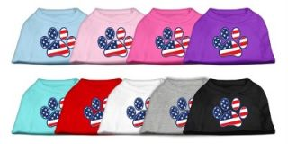 Dog Pet Puppy American Flag Paw Print Apparel Clothes