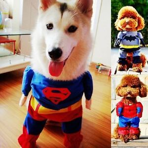 Superman Spiderman Batman Pet Cat Dog Costume Party Clothes Funny Cosplay Dress